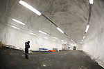 The tunnel to the room where seeds are stored in the Global Seed Valult in Svalbard, Norway is dug into permafrost.