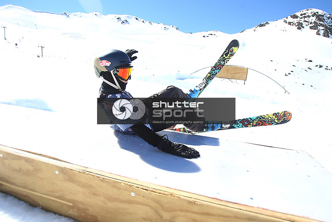 NELSON, NEW ZEALAND - SEPTEMBER 15:  Cheapskates Ski Competition on September 15 2018 in Rainbow Ski Field  Nelson, New Zealand. (Photo by: Evan Barnes Shuttersport Limited)