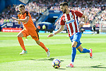 Atletico de Madrid's Yannick Carrasco and SD Eibar's Gonzalo Escalante during Liga Liga match between Atletico de Madrid and SD Eibar at Vicente Calderon Stadium in Madrid, May 06, 2017. Spain.<br /> (ALTERPHOTOS/BorjaB.Hojas)