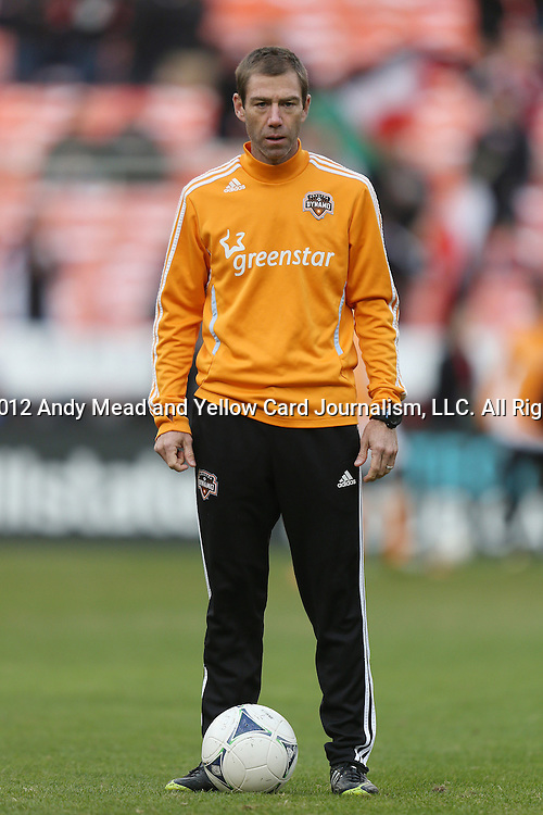 18 November 2012: Houston assistant coach Steve Ralston. DC United played the Houston Dynamo at RFK Stadium in Washington, DC in the second leg of their 2012 MLS Cup Playoffs Eastern Conference Final series. The game ended in a 1-1 tie, Houston won the series 4-2 on aggregate goals.
