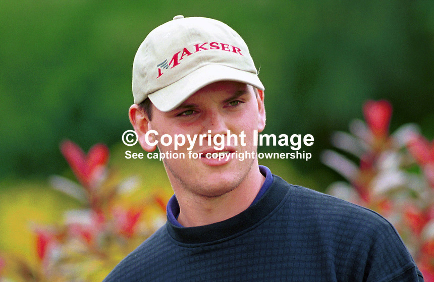 Johnny Foster, Amateur Golfer, Ballyclare Golf Club, N Ireland, UK. Ref: 199907148. Photograph taken July 1999 at Druids Glen, Co Wicklow, during Murphys Irish Open...Copyright Image from Victor Patterson, 54 Dorchester Park, Belfast, UK, BT9 6RJ..Tel: +44 28 9066 1296.Mob: +44 7802 353836.Voicemail +44 20 8816 7153.Skype: victorpattersonbelfast.Email: victorpatterson@mac.com.Email: victorpatterson@ireland.com (back-up)..IMPORTANT: If you wish to use this image or any other of my images please go to www.victorpatterson.com and click on the Terms & Conditions. Then contact me by email or phone with the reference number(s) of the image(s) concerned.