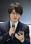 iPhone Xs, Apple, KDDI, au, Ryunosuke Kamiki, September 21, 2018, Tokyo, Japan : Japanese actor Ryunosuke Kamiki attends a launch event for Apple New iPhone XS and XS Max at the KDDI's au Shinjuku store in Tokyo, Japan, on September 21, 2018. (Photo by AFLO)