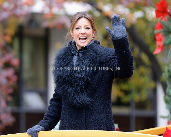 www.acepixs.com<br /> <br /> November 24 2016, New York City<br /> <br /> Sarah McLachlan at the 90th Annual Macy's Thanksgiving Day Parade on November 24, 2016 in New York City. <br /> <br /> By Line: Nancy Rivera/ACE Pictures<br /> <br /> <br /> ACE Pictures Inc<br /> Tel: 6467670430<br /> Email: info@acepixs.com<br /> www.acepixs.com