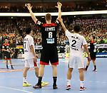 10.01.2019, Mercedes Benz Arena, Berlin, GER, Handball WM 2019, Deutschland vs. Korea, im Bild <br /> Finn Lemke (GER #6), KANG Tan (Korea #7), JI Hyung Jin (Korea #2)<br />      <br /> Foto © nordphoto / Engler