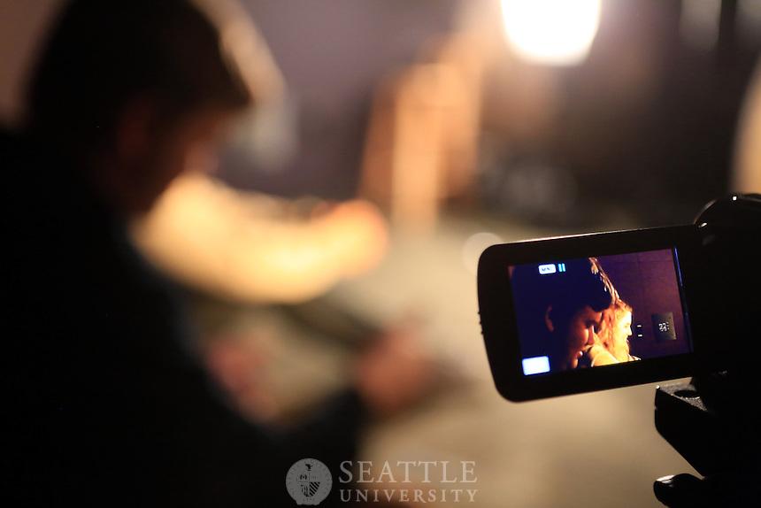 01222013-  Film Studies class, movie lighting practice