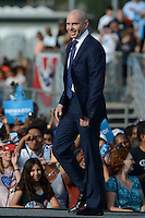 HOLLYWOOD, FL - NOVEMBER 04: Pit Bull speaks as President Barack Obama holds a grassroots event at McArthur High School on November 4, 2012 in Hollywood, Florida.   Credit: mpi04/MediaPunch Inc. .<br />