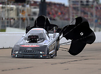 May 20, 2017; Topeka, KS, USA; NHRA funny car driver Brian Stewart during qualifying for the Heartland Nationals at Heartland Park Topeka. Mandatory Credit: Mark J. Rebilas-USA TODAY Sports