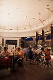 BERMUDA. Hamilton.Interior of Marcus' Restaurant during dinner service. The restaurant is located in the Hamilton Princess & Beach Club Hotel.