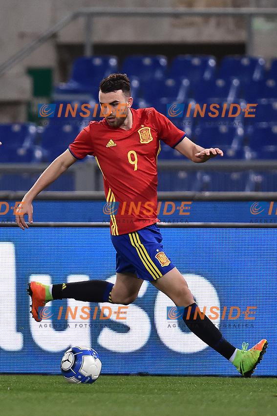 Borja Mayoral Spagna <br /> Roma 27-02-2017, Stadio Olimpico<br /> Football Friendly Match  <br /> Italy - Spain Under 21 Foto Andrea Staccioli Insidefoto