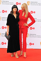 Claudia Winkleman and Tess Daly at the British Academy (BAFTA) Television Awards 2019, Royal Festival Hall, Southbank Centre, Belvedere Road, London, England, UK, on Sunday 12th May 2019.<br /> CAP/CAN<br /> &copy;CAN/Capital Pictures