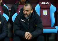 Wolverhampton Wanderers Manager Nuno <br /> <br /> Photographer Leila Coker/CameraSport<br /> <br /> The EFL Sky Bet Championship - Aston Villa v Wolverhampton Wanderers - Saturday 10th March 2018 - Villa Park - Birmingham<br /> <br /> World Copyright &copy; 2018 CameraSport. All rights reserved. 43 Linden Ave. Countesthorpe. Leicester. England. LE8 5PG - Tel: +44 (0) 116 277 4147 - admin@camerasport.com - www.camerasport.com