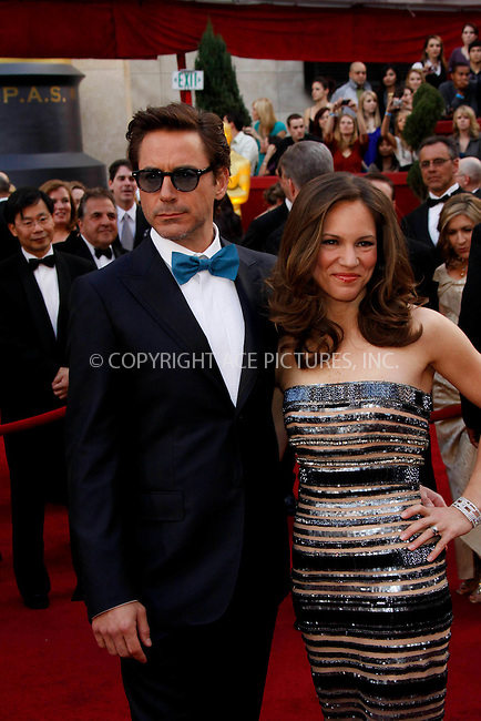 WWW.ACEPIXS.COM . . . . .  ....March 7 2010, Hollywood, CA....Actor Robert Downey jr. and wife Susan at the 82nd Annual Academy Awards held at Kodak Theatre on March 7, 2010 in Hollywood, California.....Please byline: Z10-ACE PICTURES... . . . .  ....Ace Pictures, Inc:  ..Tel: (212) 243-8787..e-mail: info@acepixs.com..web: http://www.acepixs.com