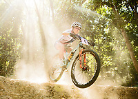 Picture by Alex Broadway/SWpix.com - 06/09/17 - Cycling - UCI 2017 Mountain Bike World Championships - XCO - Cairns, Australia - Evie Richards of Great Britain in action during a practice session.