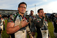 20130317 Copyright onEdition 2013©.Free for editorial use image, please credit: onEdition..Maurie Fa'asavalu of Harlequins after winning the LV= Cup Final between Harlequins and Sale Sharks at Sixways Stadium on Sunday 17th March 2013 (Photo by Rob Munro)..For press contacts contact: Sam Feasey at brandRapport on M: +44 (0)7717 757114 E: SFeasey@brand-rapport.com..If you require a higher resolution image or you have any other onEdition photographic enquiries, please contact onEdition on 0845 900 2 900 or email info@onEdition.com.This image is copyright onEdition 2013©..This image has been supplied by onEdition and must be credited onEdition. The author is asserting his full Moral rights in relation to the publication of this image. Rights for onward transmission of any image or file is not granted or implied. Changing or deleting Copyright information is illegal as specified in the Copyright, Design and Patents Act 1988. If you are in any way unsure of your right to publish this image please contact onEdition on 0845 900 2 900 or email info@onEdition.com
