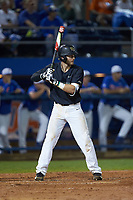Johnny Aiello (2) of the Wake Forest Demon Deacons at bat against the Florida Gators in Game Three of the Gainesville Super Regional of the 2017 College World Series at Alfred McKethan Stadium at Perry Field on June 12, 2017 in Gainesville, Florida. The Gators defeated the Demon Deacons 3-0 to advance to the College World Series in Omaha, Nebraska. (Brian Westerholt/Four Seam Images)