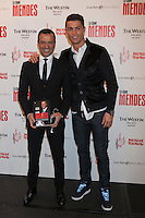 Real Madrid´s Cristiano Ronaldo (R) and Jorge Mendes attend Jorge Mendes´s book presentation in Madrid, Spain. January 22, 2015. (ALTERPHOTOS/Victor Blanco) /NortePhoto<br />
