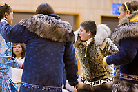 The native dancing festival which closes the Nalukataq festival, celebrating a successful spring subsistence whale hunt, in Utqiagvik (Barrow), Alaska.