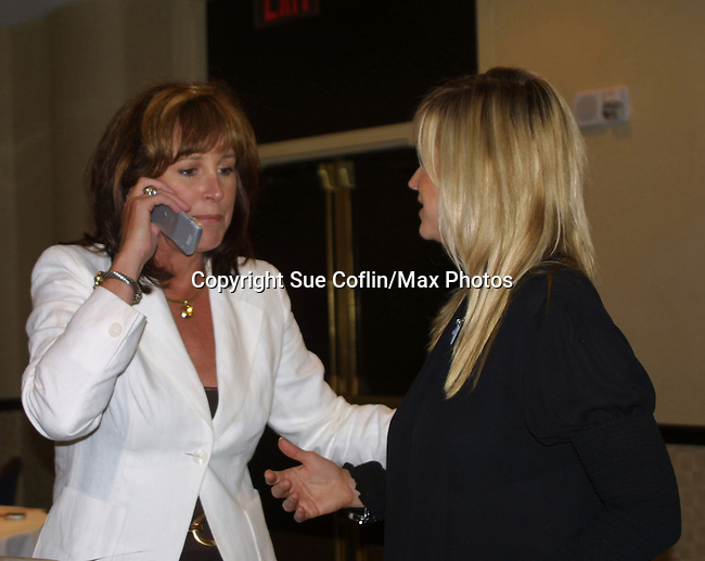 OLTL's Hillary B. Smith and Catherine Hickland at the One Life To Live Fan Club Luncheon on August 16, 2008 at the New York Marriott Marquis, New York, New York.  (Photo by Sue Coflin/Max Photos)