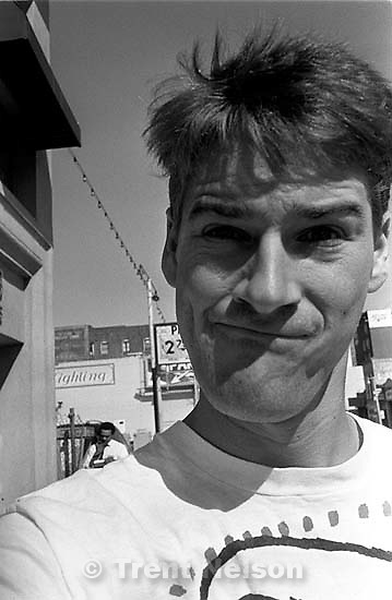 Trent Nelson self-portrait. Leica hip shots on the street.<br />