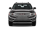 Car photography straight front view of a 2018 GMC Acadia Denali 5 Door SUV Front View