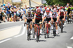 Simon Geschke (GER) Team Sunweb and Damiano Caruso (ITA) BMC Racing Team part of the 31 man breakaway group in action during Stage 14 of the 2018 Tour de France running 188km from Saint-Paul-Trois-Chateaux to Mende, France. 21st July 2018. <br /> Picture: ASO/Pauline Ballet | Cyclefile<br /> All photos usage must carry mandatory copyright credit (&copy; Cyclefile | ASO/Pauline Ballet)