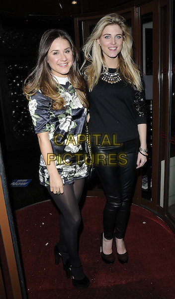 LONDON, ENGLAND - NOVEMBER 26 : Electra Formosa &amp; Ashley James at Now Magazine Christmas Party at Sanctum Soho Hotel on November 26, 2013 in London, England.<br /> CAP/CAN<br /> &copy;Can Nguyen/Capital Pictures