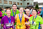 Collette O'Sullivan Waterville, Alan o'sullivan Tralee, Jenny O'Shea Waterville, Conor Lucey Macroom and Anne Doyle Abbeydourney  at the end of the Killarney Run half marathon in the Gleneagle Hotel on Saturday