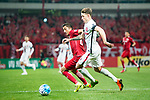 Sydney Wanderers Defender Scott Neville (R) plays against Shanghai FC Midfielder Akhmedov Odil (L) during the AFC Champions League 2017 Group F match between Shanghai SIPG FC (CHN) vs Western Sydney Wanderers (AUS) at the Shanghai Stadium on 28 February 2017 in Shanghai, China. Photo by Marcio Rodrigo Machado / Power Sport Images