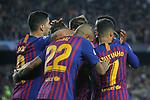 UEFA Champions League 2018/2019 - Matchday 3.<br /> FC Barcelona vs FC Internazionale Milano: 2-0.<br /> Luis Suarez, Arturo Vidal &amp; Philippe Coutinho.