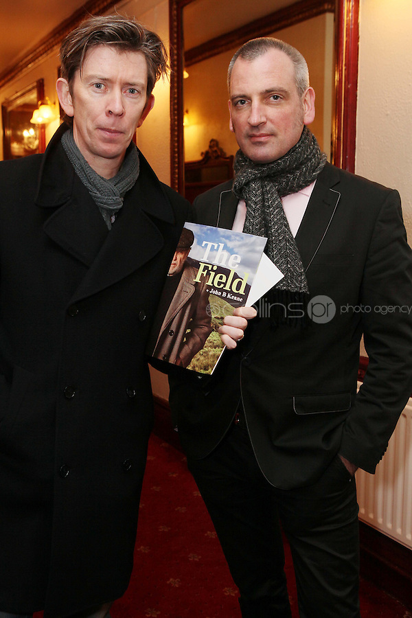 "NO REPRO FEE. 17/1/2010. The Field opening night. John Kelly and James Hanley are pictured at the Olympia Theatre for the opening night of John B Keanes 'The Field"" Picture James Horan/Collins"