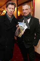 """NO REPRO FEE. 17/1/2010. The Field opening night. John Kelly and James Hanley are pictured at the Olympia Theatre for the opening night of John B Keanes 'The Field"""" Picture James Horan/Collins"""