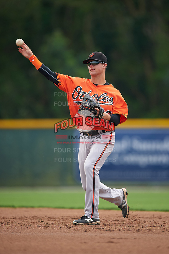 Baltimore Orioles Frank Crinella (29) during a minor league Spring Training intrasquad game on April 2, 2016 at Buck O'Neil Complex in Sarasota, Florida.  (Mike Janes/Four Seam Images)
