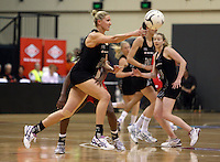 25.10.2012 Silver Ferns Casey Williams in action during the Silver Ferns v England netball test match as part of the Quad Series played at the TSB Arena Wellington. Mandatory Photo Credit ©Michael Bradley.