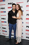 """Nat Wolff and Grace Van Patten attends the Opening Night Celebration for """"Mother of the Maid"""" on October 18, 2018 at the Public Theatre in New York City."""