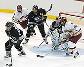 Chase Watson, Nathan Gerbe, Dinos Stamoulis, Tyler Sims, Dan Bertram  The Boston College Eagles defeated the Providence College Friars 3-2 in regulation on October 29, 2005 at Kelley Rink in Conte Forum in Chestnut Hill, MA.  It was BC's first Hockey East win of the season and Providence's first HE loss.