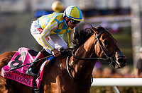 DEL MAR, CA - SEPTEMBER 02: Ride a Comet with Draymen Van Dyke up wins the Del Mar Derby at Del Mar on September 2, 2018 in Del Mar, California.(Photo by Alex Evers/Eclipse Sportswire)