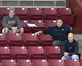 Brad Bates (BC - AD), Russell DeRosa (BC - Director-Strength&Cond), John Hegarty (BC - Dir-Hockey Ops) - The Boston College Eagles defeated the visiting University of Maine Black Bears 5 to 1 on Sunday, October 6, 2013, in their Hockey East season opener at Kelley Rink in Conte Forum in Chestnut Hill, Massachusetts.