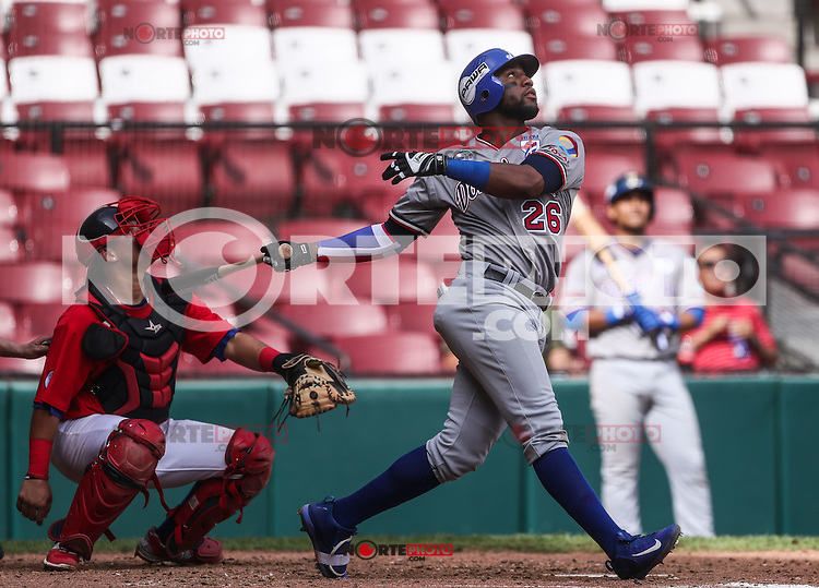 Mel Rojas de Dominicana, durante el partido de beisbol de la Serie del Caribe entre Republica Dominicana vs Puerto Rico en el Nuevo Estadio de los Tomateros en Culiacan, Mexico, Sabado 4 Feb 2017. Foto: Luis Gutierrez/NortePhoto.com<br /> <br /> Actions, during the Caribbean Series baseball match between Dominican Republic vs Puerto Rico at the New Tomateros Stadium in Culiacan, Mexico, Saturday 4 Feb 2017. Photo: Luis Gutierrez / NortePhoto.com