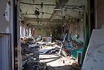 The interior of the post office remains gutted and littered with debris in the Shizugawa district of Minami Sanriku, Japan on Tuesday 24 May 2011..Photographer: Robert Gilhooly