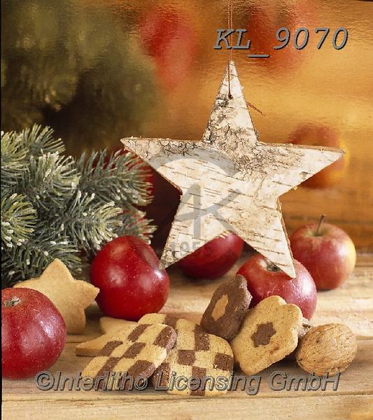 Interlitho-Alberto, CHRISTMAS SYMBOLS, WEIHNACHTEN SYMBOLE, NAVIDAD SÍMBOLOS, photos+++++,star, apples, wood,KL9070,#xx#