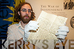 WHO WROTE THIS?: Griffin Murray of the Kerry County Museum in Tralee who is seeking help tracing the origins of a letter dating from about 1918.   Copyright Kerry's Eye 2008