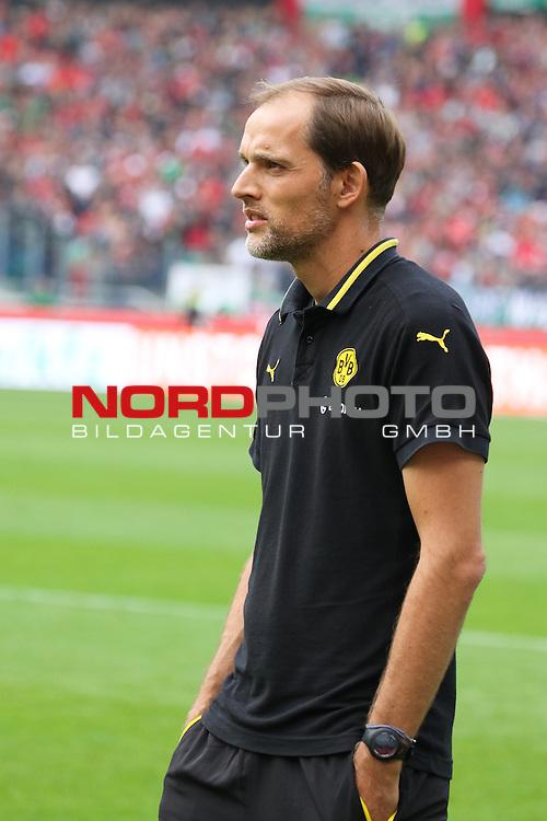 12.09.2015, HDI Arena, Hannover, GER, 1.FBL, Hannover 96 vs Borussia Dortmund<br /> <br /> im Bild<br /> Thomas Tuchel (Trainer Borussia Dortmund) Halbkoerper, Hochformat<br /> <br /> Foto &copy; nordphoto / Ewert