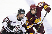 Adam Presizniuk (Union - 29), David Grun (Duluth - 27) - The University of Minnesota-Duluth Bulldogs defeated the Union College Dutchmen 2-0 in their NCAA East Regional Semi-Final on Friday, March 25, 2011, at Webster Bank Arena at Harbor Yard in Bridgeport, Connecticut.