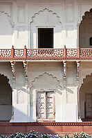 Khas Mahal Palace built 17th Century by Mughal Shah Jehan for his daughters inside Agra Fort, India