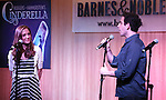 Laura Osnes; Santino Fontana during the 'Rodgers + Hammerstein's Cinderella'  Original Cast Recording CD release performance at Barnes & Noble 86th Street in New York City on June 13, 2013