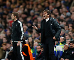 Antonio Conte manager of Chelsea shouts instructions during the Champions League Group C match at the Stamford Bridge, London. Picture date: December 5th 2017. Picture credit should read: David Klein/Sportimage