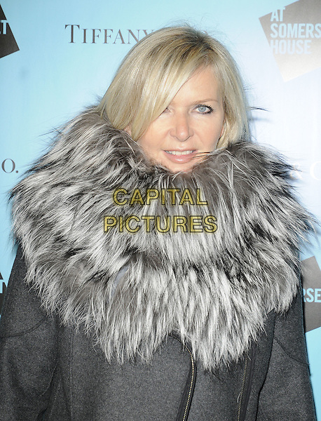 AMANDA WAKELEY.The Somerset House Ice Rink VIP Opening, Somerset House, The Strand, London, England, UK..November 22nd 2010.half length coat jacket fur collar grey gray.CAP/CAN.©Can Nguyen/Capital Pictures.
