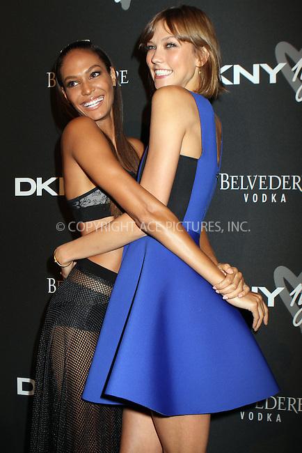 WWW.ACEPIXS.COM<br /> <br /> September 9, 2013, New York City<br /> <br /> Joan Smalls and Karlie Kloss at the DKNY 25 Birthday Bash on September 9, 2013 in New York City. <br /> <br /> By Line: Nancy Rivera/ACE Pictures<br /> <br /> <br /> ACE Pictures, Inc.<br /> tel: 646 769 0430<br /> Email: info@acepixs.com<br /> www.acepixs.com