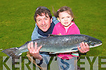 BREADA?N MO?R: Jeremy Sheehy of Tralee and his daughter Jane with the fifteen and a half pound salmon he caught on the Laune last week.   Copyright Kerry's Eye 2008