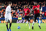 Ashley Young of Manchester United (C) in action during the UEFA Champions League 2018-19 match between Valencia CF and Manchester United at Estadio de Mestalla on December 12 2018 in Valencia, Spain. Photo by Maria Jose Segovia Carmona / Power Sport Images